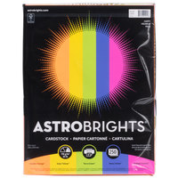 Astrobrights 21004 8 1/2 inch x 11 inch Brilliant Assorted Pack of 65# Smooth Color Paper Cardstock- 250 Sheets