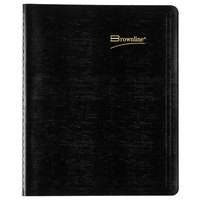 Brownline CB1200BLK 7 1/8 inch x 8 7/8 inch Black December 2020 - January 2022 Essential Collection 14-Month Planner