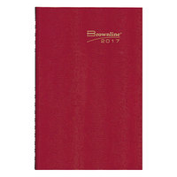 Brownline C550C 7 7/8 inch x 10 inch Red 2018 CoilPro Daily Planner