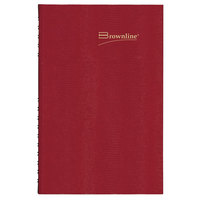 Brownline C550C 7 7/8 inch x 10 inch Red 2021 CoilPro Daily Planner