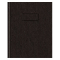 National A7EBLK 9 1/4 inch x 7 1/4 inch Black Hard Cover College Rule Ecologix Notebook - 75 Sheets