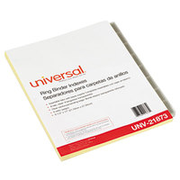 Universal UNV21873 Clear 8-Tab Insertable Index Divider Set - 6/Pack