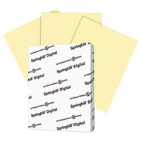 Springhill 035300 8 1/2 inch x 11 inch Canary Pack of 110# Index Card Stock - 250/Pack