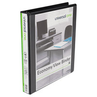 Universal UNV20741 Black Economy View Binder with 1 inch Slant Rings