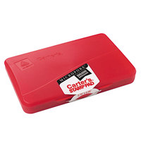 Avery 21271 Carter's 4 1/4 inch x 2 3/4 inch Red Pre-Inked Micropore Stamp Pad