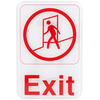 Exit Sign - Red and White, 9 inch x 6 inch