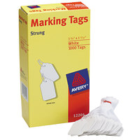 Avery 12204 1 3/4 inch x 1 3/32 inch White Medium Weight Paper Marking Tag - 1000/Box