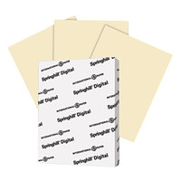 Springhill 056000 8 1/2 inch x 11 inch Ivory Pack of 67# Vellum Bristol Cover - 250/Pack