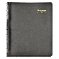 Blueline CF151281T 9 1/16 inch x 11 inch Black August 2016 - December 2018 MiracleBind Soft Cover 17-Month Academic Planner