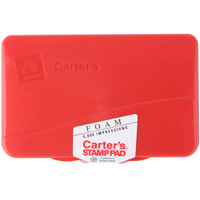 Avery 21371 Carter's 4 1/4 inch x 2 3/4 inch Red Pre-Inked Foam Stamp Pad