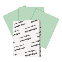 Springhill 046000 8 1/2 inch x 11 inch Green Pack of 67# Vellum Bristol Cover - 250/Pack
