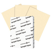 International Paper 056300 Springhill Digital 8 1/2 inch x 11 inch Ivory Pack of 110# Smooth Index Paper Cardstock - 250/Pack