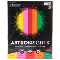 Astrobrights 21003 8 1/2 inch x 11 inch Bold Assorted Pack of 65# Smooth Color Paper Cardstock - 250/Pack