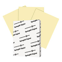 Springhill 035100 8 1/2 inch x 11 inch Canary Pack of 90# Index Card Stock - 250/Pack