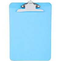 Universal UNV40307 1 inch Capacity 12 inch x 8 1/2 inch Blue High Capacity Clip Plastic Clipboard