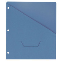 Universal UNV61681 11 inch x 8 1/2 inch Blue Three Ring Binder Jacket with Slash-Cut Pocket, Letter - 10/Pack
