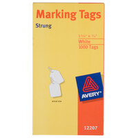 Avery 12207 1 3/32 inch x 3/4 inch White Medium Weight Paper Marking Tag - 1000/Box