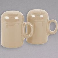 Homer Laughlin 756330 Fiesta Ivory Rangetop Salt and Pepper Shaker Set - 4/Case