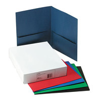 Avery 47993 11 inch x 8 1/2 inch Assorted Color Two Pocket Paper Folder, Letter - 25/Box