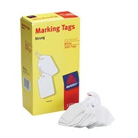 Avery 12201 2 3/4 inch x 1 11/16 inch White Medium Weight Paper Marking Tag - 1000/Box