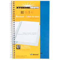 National 33502 7 3/4 inch x 5 inch Blue College Rule 1 Subject Wirebound Notebook - 80 Sheets