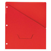 Universal UNV61683 11 inch x 8 1/2 inch Red Three Ring Binder Jacket with Slash-Cut Pocket, Letter - 10/Pack