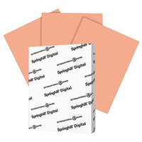 International Paper 085100 Springhill Digital 8 1/2 inch x 11 inch Salmon Pack of 90# Smooth Index Paper Cardstock - 250/Pack