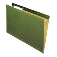 Universal UNV24213 14 inch x 8 1/2 inch Standard Green Reinforced Hanging Folder with 1/3 Cut Tab, Legal - 25/Box