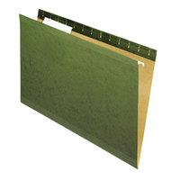 Universal UNV24213 14 inch x 8 1/2 inch Standard Green Reinforced Hanging Folder with 1/3 Cut Tab, Legal - 25/Box