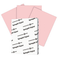 International Paper 076000 Springhill Digital 8 1/2 inch x 11 inch Pink Pack of 7 pt. Vellum Paper Cover Stock - 250/Pack