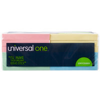 Universal UNV35669 3 inch x 3 inch Assorted Pastel Color Self-Stick Note - 12/Pack