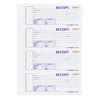 Rediform Office S1654NCR 2-Part Carbonless Hard Cover Numbered Receipt Book with 300 Sheets