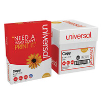 Universal Office UNV11289 8 1/2 inch x 11 inch White 20# Copy Paper - 5/Case