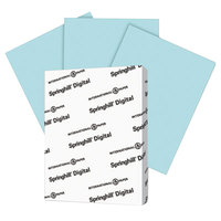 Springhill 025300 8 1/2 inch x 11 inch Blue Pack of 110# Index Card Stock - 250/Pack