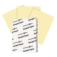Springhill 036000 8 1/2 inch x 11 inch Canary Pack of 67# Vellum Bristol Cover - 250/Pack
