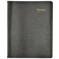 Brownline CB950BLK 8 1/2 inch x 11 inch Black 2021 Essential Collection 15-Minute Appointment Weekly Planner