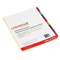 Universal UNV21872 Multi-Color 8-Tab Insertable Index Divider Set - 6/Pack