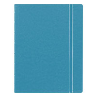 Filofax B115012U 8 1/4 inch x 5 13/16 inch Aqua Cover College Rule 1 Subject Notebook - 112 Sheets