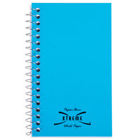 National 31220 5 inch x 3 inch Assorted Color Wirebound Side Opening Narrow Rule Memo Book - 60 Sheet