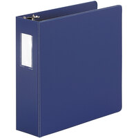 Universal UNV35412 Royal Blue Economy Non-Stick Non-View Binder with 3 inch Round Rings and Spine Label Holder