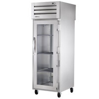 True STA1RPT-1G-1S-HC Specification Series 27 1/2 inch Glass Front, Solid Back Door Pass-Through Refrigerator
