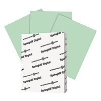 Springhill 045100 8 1/2 inch x 11 inch Green Pack of 90# Index Card Stock - 250/Pack