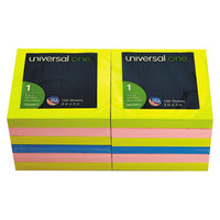 Universal UNV35617 3 inch x 3 inch Assorted Neon Color Fan-Folded Pop-Up Note - 12/Pack