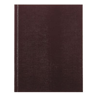 Rediform Office A7BURG 9 1/4 inch x 7 1/4 inch Executive Burgundy College Rule Notebook 150 Sheets