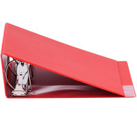 Universal UNV20708 Red Non-View Binder with 4 inch Slant Rings and Spine Label Holder