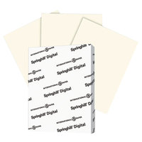 International Paper 097000 Springhill Digital 8 1/2 inch x 11 inch Cream Pack of 7 pt. Vellum Paper Cover Stock - 250/Pack