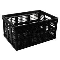 Universal UNV40015 20 3/4 inch x 14 5/8 inch x 10 3/4 inch Black Plastic File Storage Tote