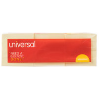 Universal UNV35662 1 3/8 inch x 1 7/8 inch Yellow Self-Stick Note - 12/Pack