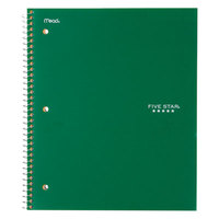 Five Star 72055 Green College Rule 1 Subject Wirebound Notebook, Letter - 100 Sheets