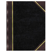 National 57151 14 1/4 inch x 8 3/4 inch Black Texthide Record Book with 500 Pages